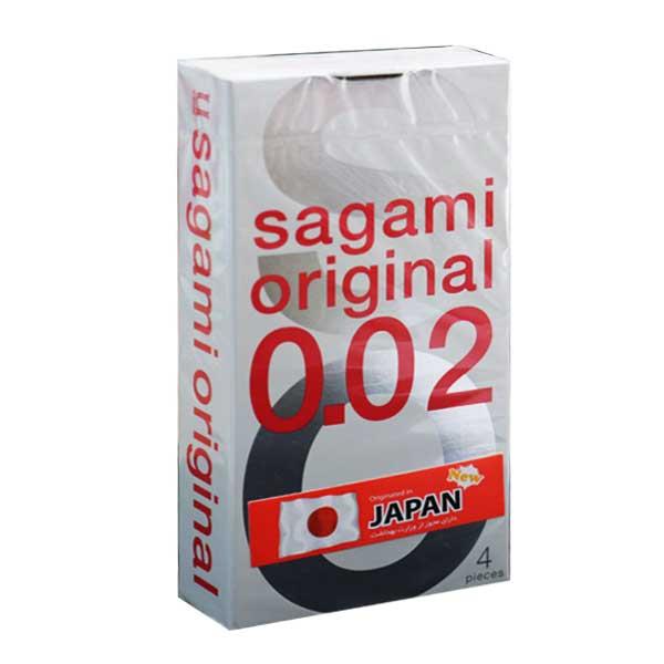 کاندوم بسیار نازک ساگامی 4 عددی سایز نرمال SAGAMI ORIGINAL NORMAL-خرید کاندوم